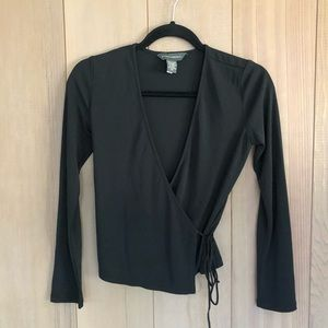 Black Banana Republic Wrap Top Blouse